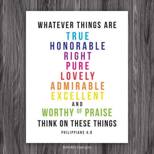 Even the Bible says it is important to think positively!