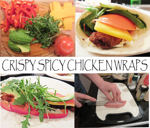 how to make spicy chicken wraps