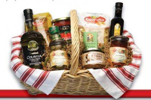 Wines and cheese make a lovely gift basket for the wine lover