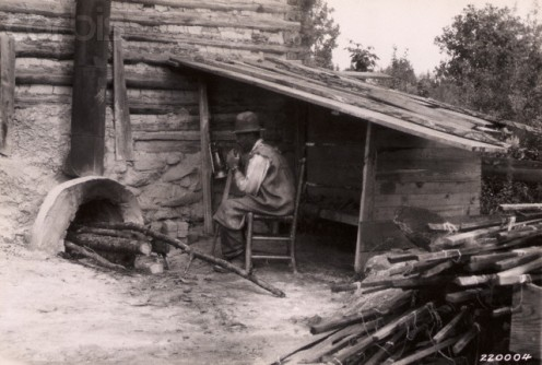 Early southern rural smokehouse