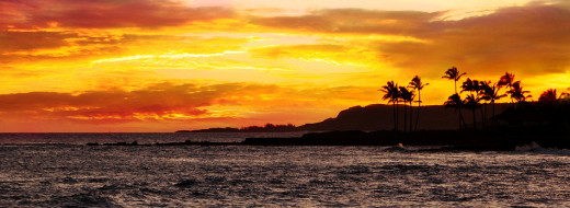 tropical sunsets are a nightly event on any of the Hawaiian islands