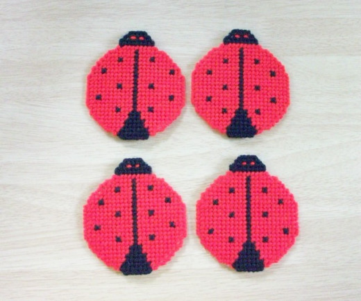 Lady Bug Coasters
