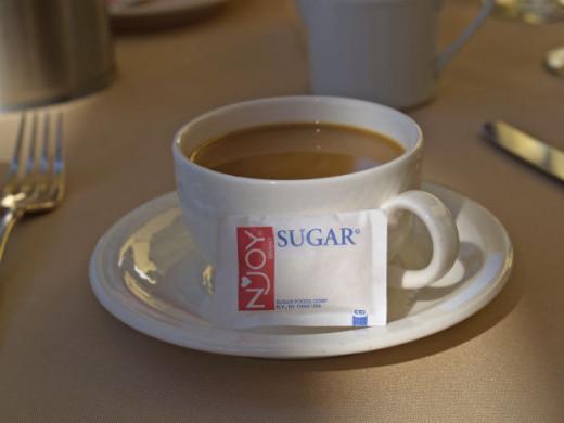 Regular Sugar with Coffee