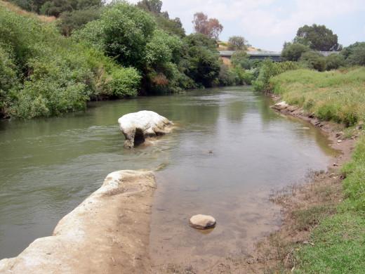 The Jordan River in Israel
