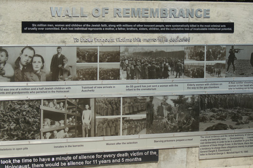 Photos on the Holocaust Remembrance Wall
