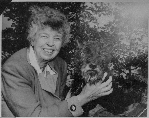 Eleanor Roosevelt and Fala, 1951