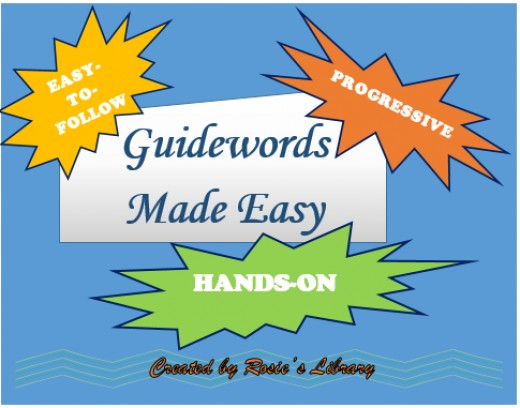 Hands-on activities that teach guidewords.