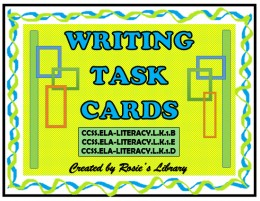 Teach and reinforce essential writing skills with these already made writing task cards.