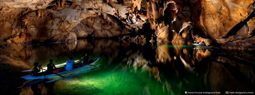 Secret underground caves in El Nido region.