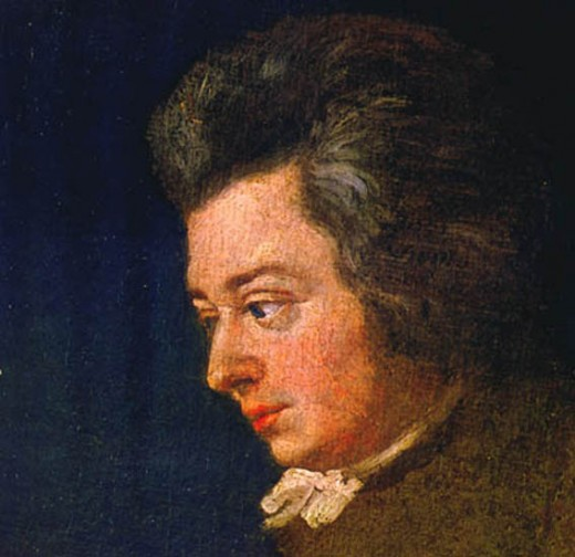 Joseph Lange's portrait of a 26 year-old Mozart, (considered to be the best likeness of the composer.)