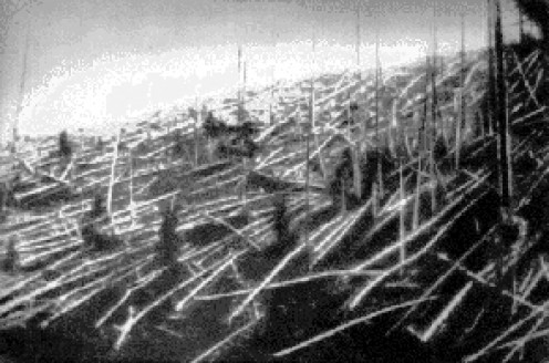 The Tunguska Explosion Aftermath in 1927
