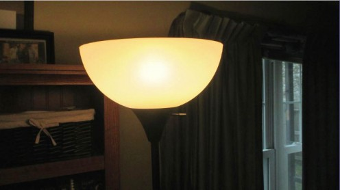 The LED light provides a warm light to the room.
