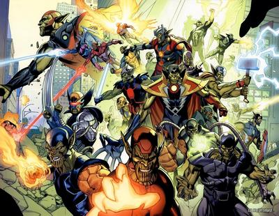 """""""He turned to see Kl'rt and other Super Skrulls standing, ready to fight."""""""
