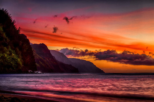 The Na Pali Coast. Very hard to film a bad timelapse here.