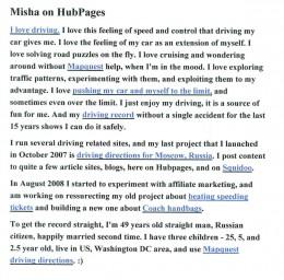 Misha's GREAT profile