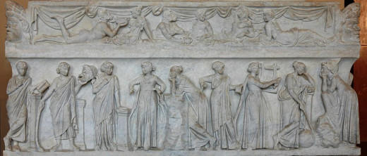 The nine muses of the Greek mythological tradition
