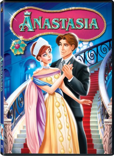 Anya, the protagonist, looking like Grand Duchess Anastasia Romanov of Russia. She's with Dimitri, her love interest in the Anastasia 1997 animated movie