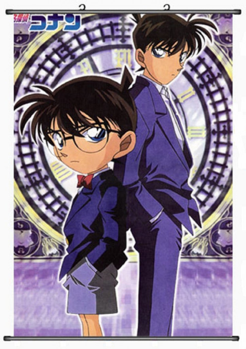 Conan Edogawa and Shinichi Kudo. Yup, they're 1 and the same person. Shinichi was turned into a kid and he used the name Conan and started wearing glasses so he wouldn't be recognized by the Black Organization who believe that he's dead