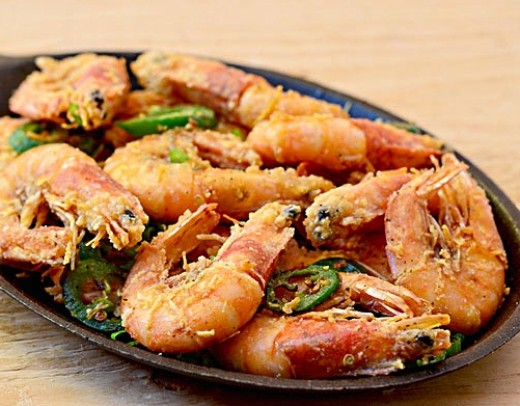 Salt and pepper prawns and shrimp are popular dishes that can be made ...