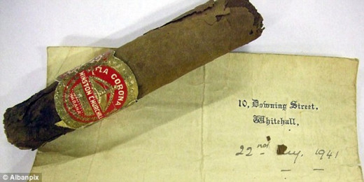 Half-smoked cigar that Churchill stubbed out as he heard the Nazi ... www.dailymail.co.uk