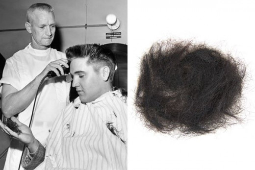 Reflections About Churchill's Cigar Stub that sold for $8138, etc. celebrities.wikinut.com Elvis Presley's hair
