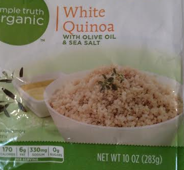 Frozen, organic, white, quinoa, pre-made.
