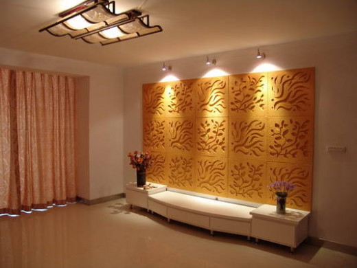 Wall Panels can create great lighting effects if proper lighting is used.