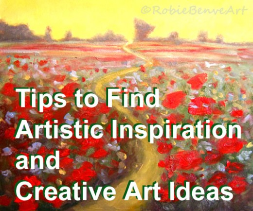 Tips on finding artistic inspiration and creative ideas. - Painting by © Robie Benve