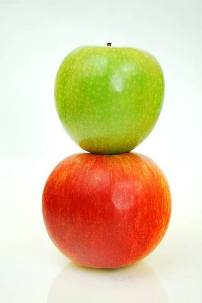 We even get apples, sometimes, too!