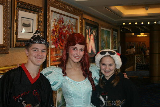 There were even Disney characters on the cruise!