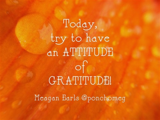 Be grateful for change...