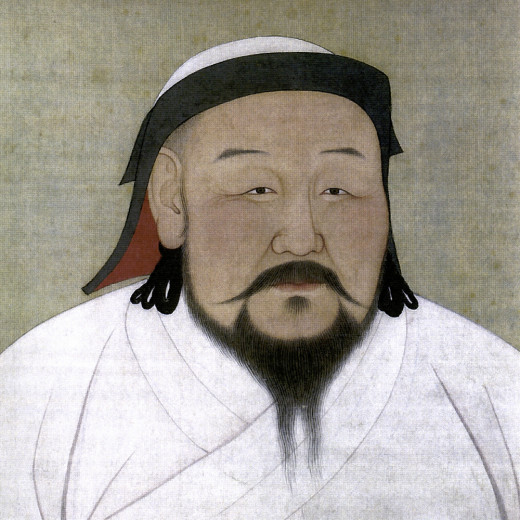 Classic portrait of Kublai Khan.