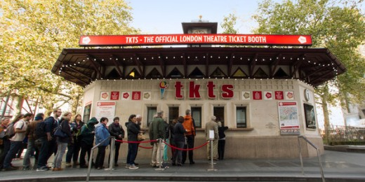 The TKTS booth in Leicester Square