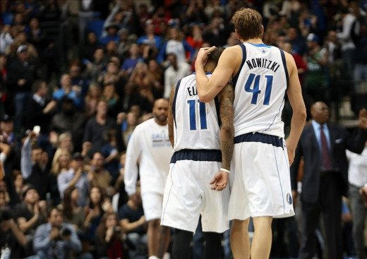 Left to right: Monta Ellis and Dirk Nowitzki