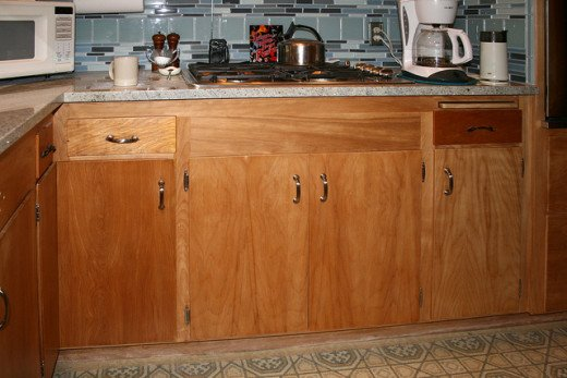Kitchen cabinets restored