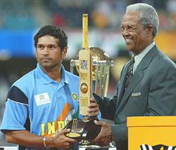 Master Blaster Sachin Tendulkar won the player of the tournament in 2003