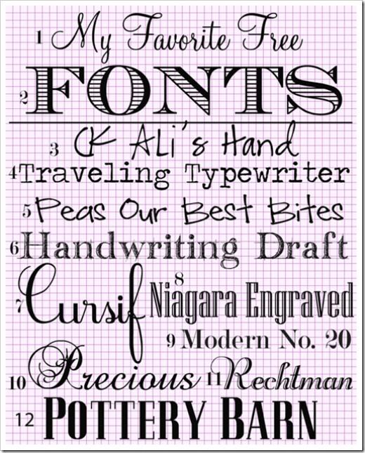various fonts