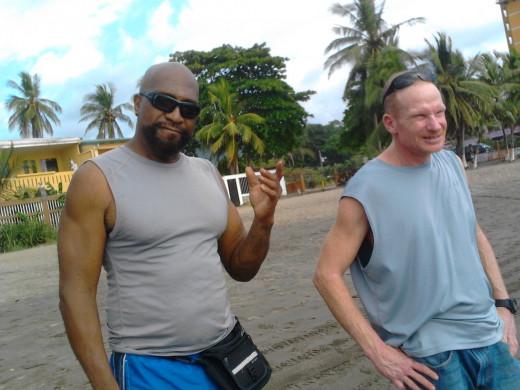 Baleegh(black guy) and Roy(white guy)
