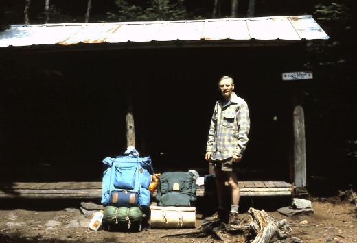 My Dad at Eliza Brook Shelter.