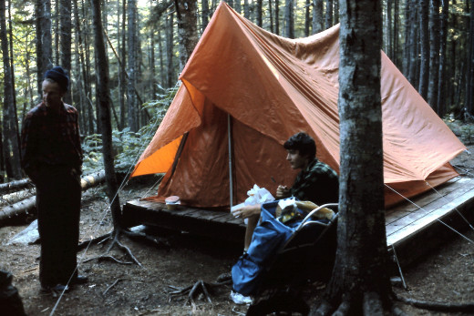 Our camp at Ethan Pond Campsite.