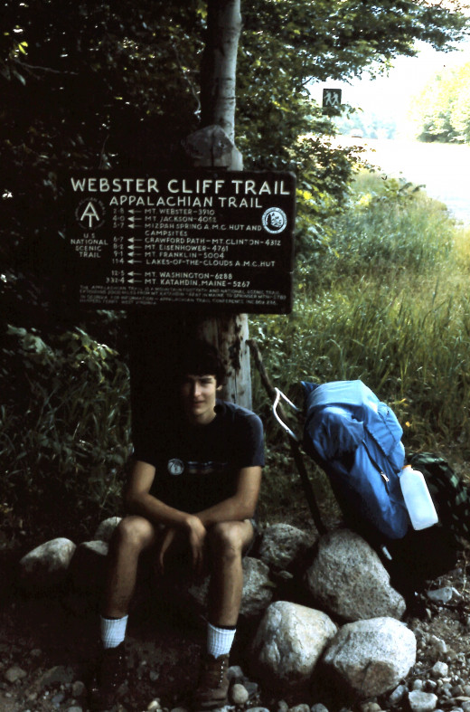 A brief rest before tackling the Webster Cliff Trail.