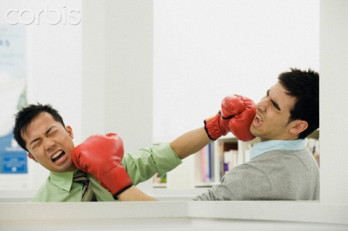 "I think that an ""ex"" and a current boyfriend could solve their problems with a good boxing match"