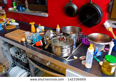 chaos in kitchen