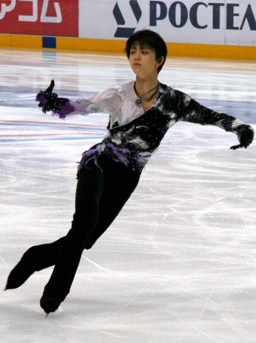 Reigning Olympic and World Champ Yuzuru Hanyu of Japan.