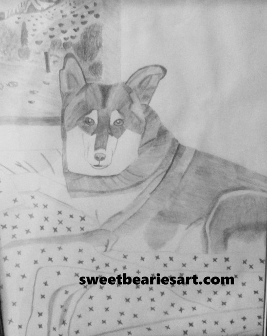 My drawing of Lady dog from 2007.
