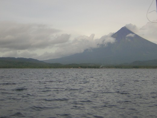 Seeing the Majestic Mayon while sailing the sea
