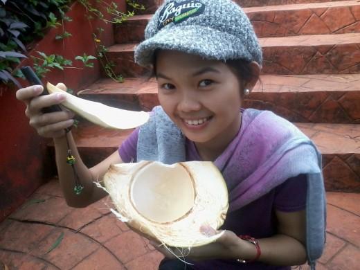 It's more fun to enjoy fresh buko in Albay, Philippines!