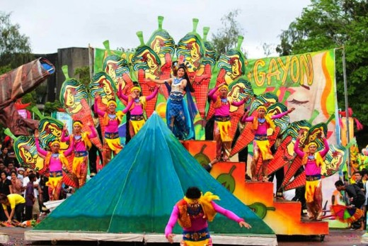Magayon Festival Dancers performs street presentation.