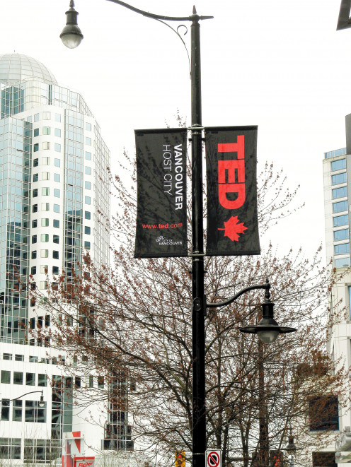 The TED conference is held in Vancouver in the spring. The 2017 conference takes place from April 24th to April 28th.