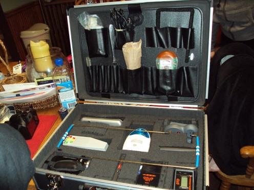 We purchased this case at a local hardware store to keep our equipment in for about $30.00.